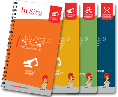 serie 4 carnets de poche mobile in situ experts hydrauliciens