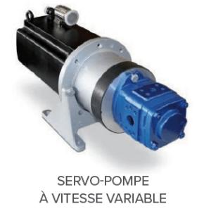 servo-pompe à vitesse variable