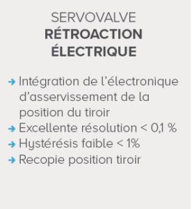 servovalve : rétroaction électrique